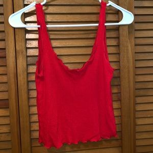 Red crop top. Perfect condition.